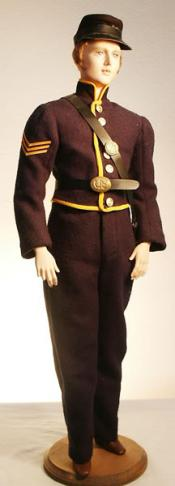 Click to enlarge image  - Lord Christopher Mold Set - Union Soldier - Shell Jacket, Trowsers, Pouch, Kepi (hat)