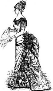 Click to enlarge image 1882 Spring Ball Gown - Pattern 33