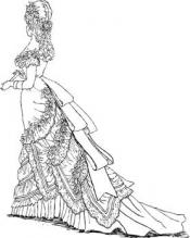 Click to enlarge image 1876 Evening Gown - Pattern 92
