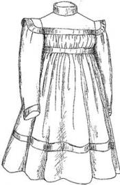Click to enlarge image 1899 Girls Dress with Square Yoke - Pattern 8